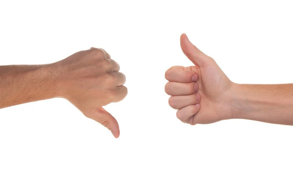Thumbs up Thumbs down pros cons